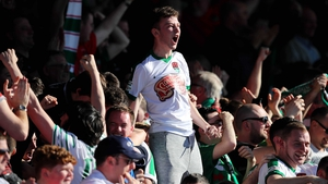Cork City fans celebrate their defeat of Dundalk