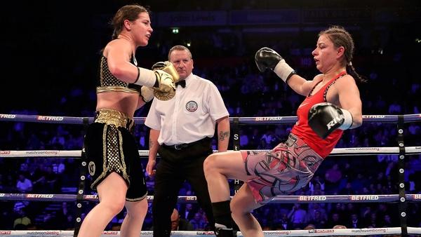 Taylor in action against Koleva