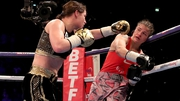 Katie Taylor in action against Milena Koleva in Manchester