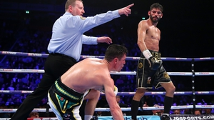 Anthony Crolla looks on after being knocked down by Jorge Linares