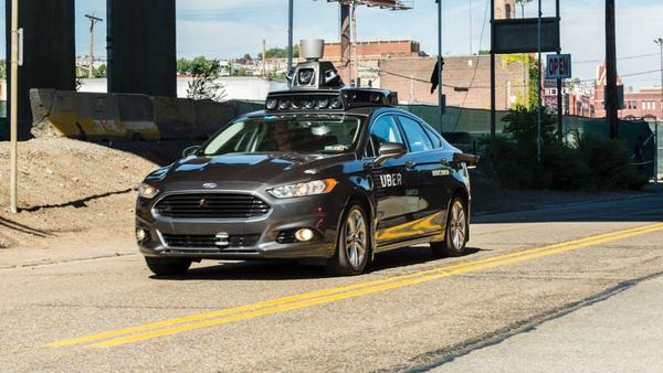 A prototype self-driving car.