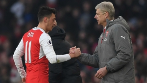 Mesut Ozil with Arsene Wenger