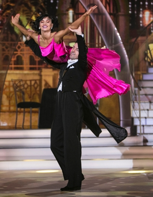 Week 12: Aidan went back to American Smooth last night. The winning couple looked amazing in classic tuxedo and stunning pink dress.