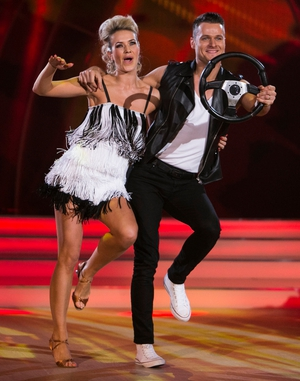 Week 12: Rock chick Aoibhín looked fabulous in frills for her fast paced performance last night.