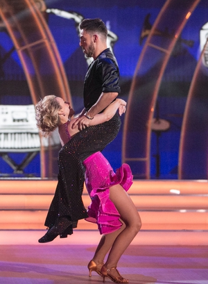 Week 12: Denise and Ryan gave it socks in sequins and frills for their final night on the dance floor.