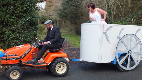 It's fast but she's furious! Tonight's bride Liza Hanley isn't impressed by her groom's choice of transport