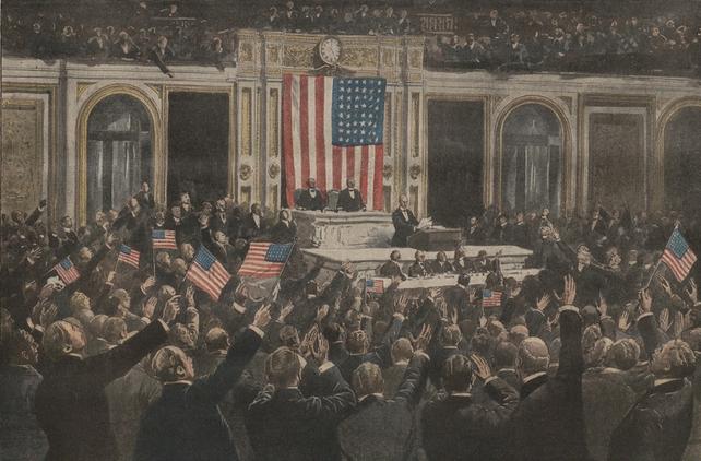 Wilson in US Congress -Le Petit Journal