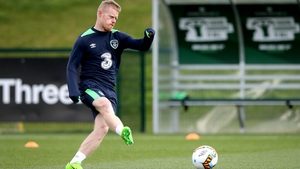 Daryl Horgan will win his first cap if he features against Iceland tonight