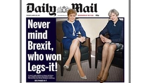 Daily Mail's 'Legs-it' cover with Nicola Sturgeon and Theresa May was met with mockery online