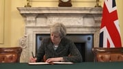 Theresa May signs the Article 50 letter