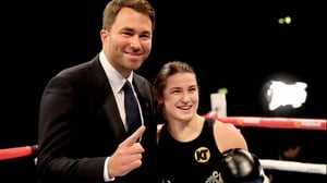 Katie Taylor pictured with her promoter Eddie Hearn