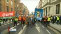 Protest against cutbacks at Bus Éireann held outside Leinster House