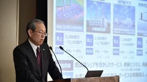 Toshiba's CEO Satoshi Tsunakawa