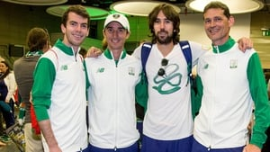 Paul McNamara (r) was part of the coaching team at last year's Rio Olympics