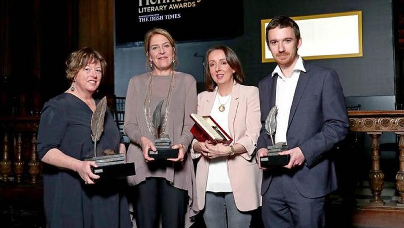 Hennessy Prize winners Vona Groarke, Una Mannion, Rachel Donohue and Sean Tanner