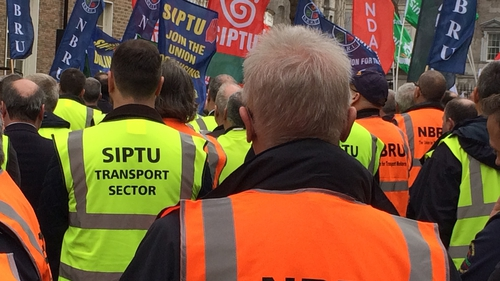 The strike at Bus Éireann started three weeks ago