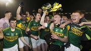 Kerry's players celebrate their provincial title win