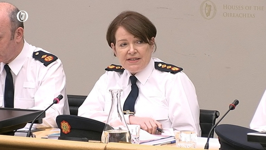 Garda Commissioner before Oireachtas Justice Committee