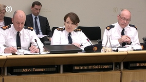 Garda Commissioner Nóirín O'Sullivan faced questions at the committee