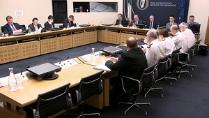 Garda Commissioner Nóirín O'Sullivan facing questions at Committee