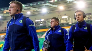 Leinster's Dan Leavy, Tadhg Furlong and Garry Ringrose