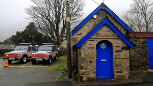 The Llanberis Mountain Rescue station in the Snowdonia mountain range in north Wales