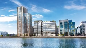 An artist's impression of the Capital Dock development, including 200 Capital Dock