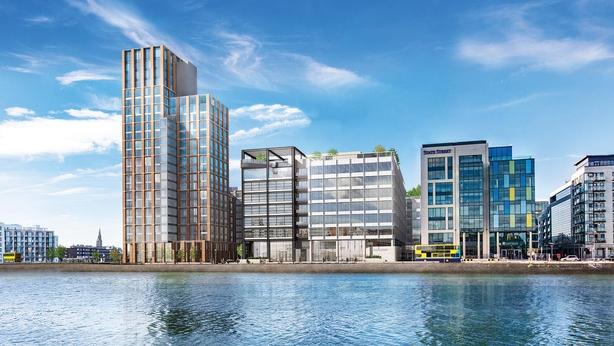 An artist's impression of the Capital Dock development, including 200 Capital Dock