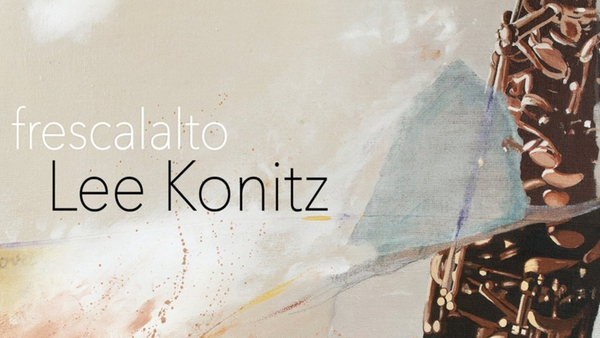 Detail from the cover of Lee Konitz's new album, frescalto