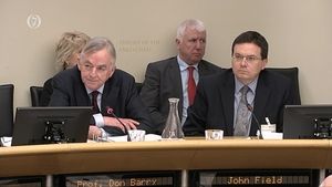 UL President Professor Don Barry (L) at the Public Accounts Committee
