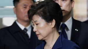Park Geun-hye on charges of bribery, abuse of authority, coercion, and leaking government secrets