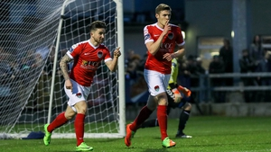 Garry Buckley celebrates his goal for Cork