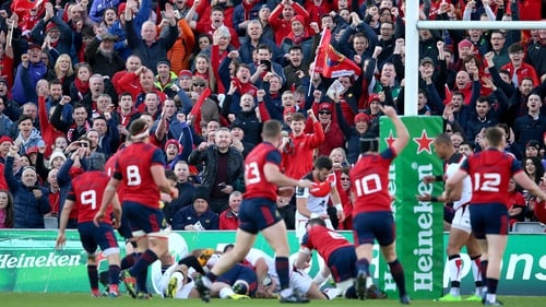 Munster took an early lead and stayed ahead at Thomond Park
