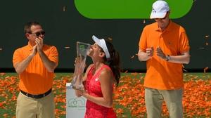 Johanna Konta savours her victory