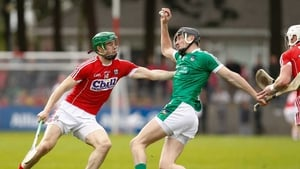 Cork's Seamus Harnedy gets to grips with Limerick's Diarmaid Byrnes
