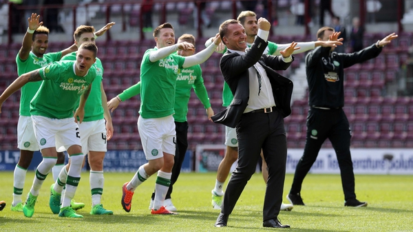 Celtic celebrate their title victory