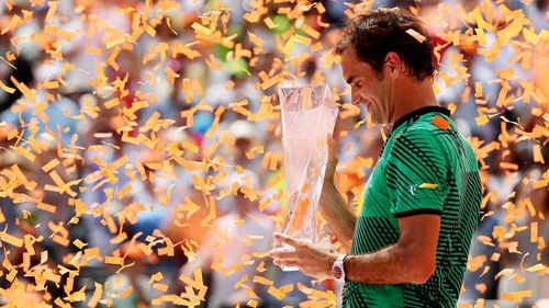 Roger Federer won an extraordinary 87% of points on his first serve against Rafael Nadal - a man recognised as one of the greatest returner's of all-time - in the Miami Open final