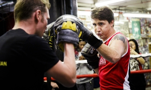 Watch out Mathew Perry. Justin Trudeau is ready to box again