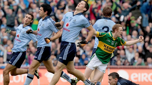 Colm Cooper celebrates his goal against Dublin the 2011 All-Ireland final