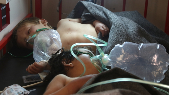 35 people reported killed in a toxic gas attack in Syria