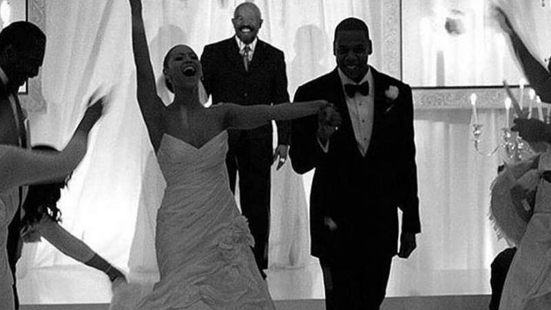 Beyonce And Jay Z On Their Wedding Day Image Via Tina Knowles Instagram