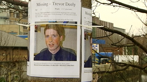 Trevor Deely disappeared after a night out in Dublin in December 2000