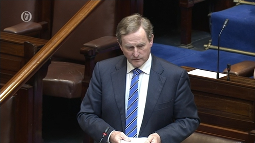 The Taoiseach said the Government has been clear there will be no visible hard border