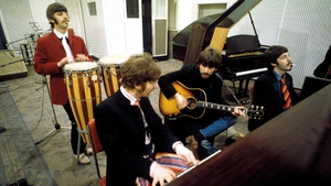 The Beatles at work in the cradle of genius in Abbey Road Studio Two