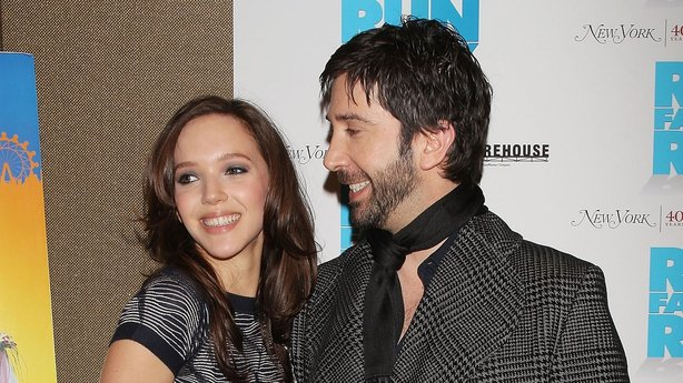"David Schwimmer dan Zoe Buckman di pemutaran perdana ""Run Fatboy Run"" di Soho Grand di New York 2008"