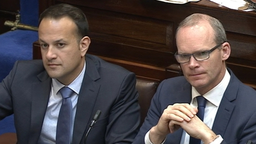 The 'big two' in the leadership race, Leo Varadkar (L) and Simon Coveney