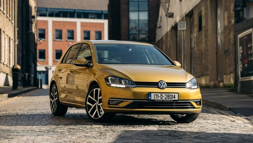 The slightly new-look revised Volkswagen Golf
