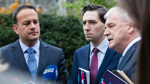 Ministers Leo Varadkar, Simon Harris and Finian McGrath attended the launch today