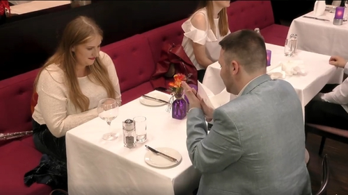 Rubbing his date up the right way....in a manner of speaking