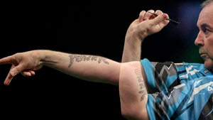Phil Taylor dominated his match against Raymond van Barneveld